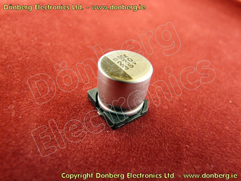 Capacitor 220 181 F 35vsmd Smd Electrolytic Capacitor