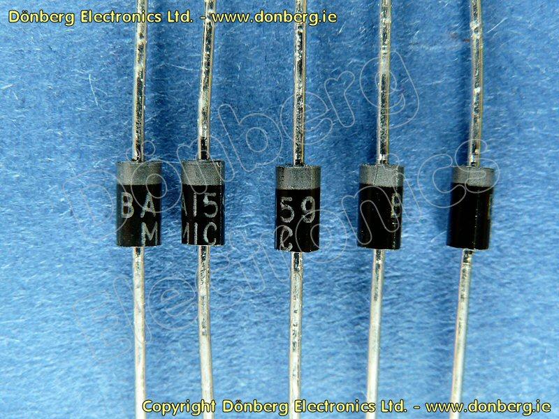 Inverters For Sale >> Semiconductor: BA159 (BA 159) - SILICON DIODE / 1000V / 0.4A...