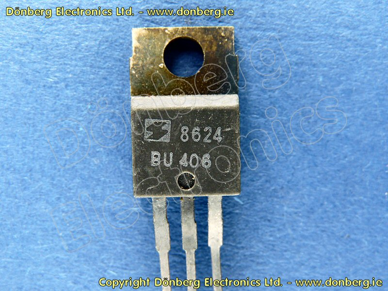 Semiconductor Bu406 Bu 406 Transistor Silicon Npn