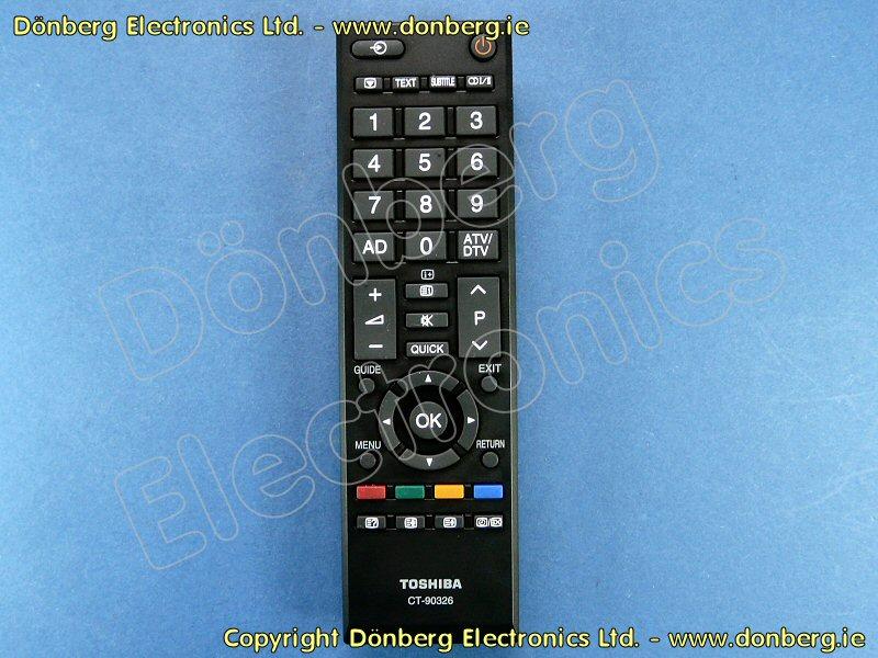 Ct90326 Ct 90326 Remote Control Toshiba 42hl833b