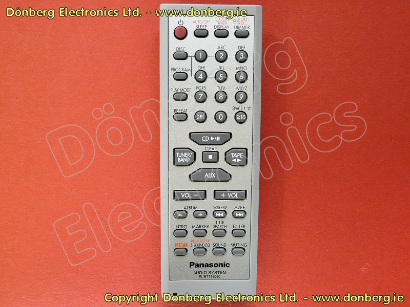 Panasonic Remote Controls From D 246 Nberg Electronics