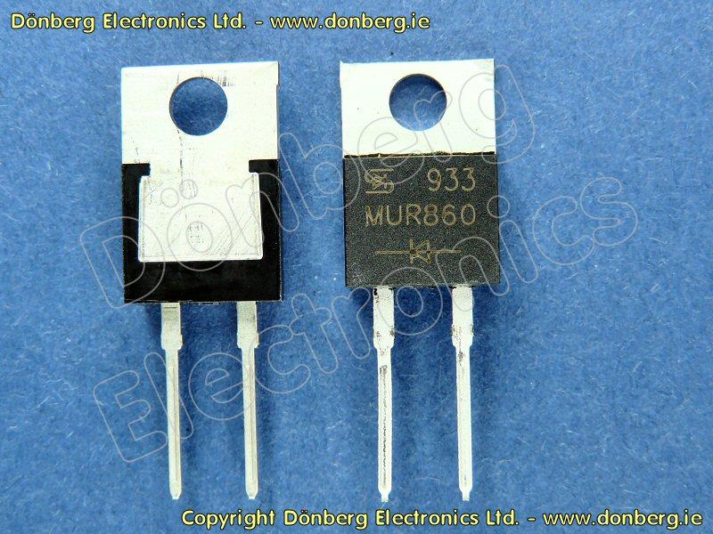 Semiconductor Mur860 Mur 860 Diode Ultra Fast 8a