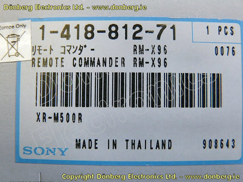 Wiring M610 Sony Diagram Harness Serial Cdx 3539766 - Complete ...