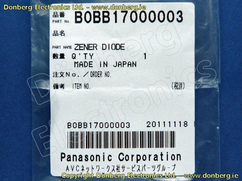 Semiconductor T3d T 3d Zener Diode Panasonic